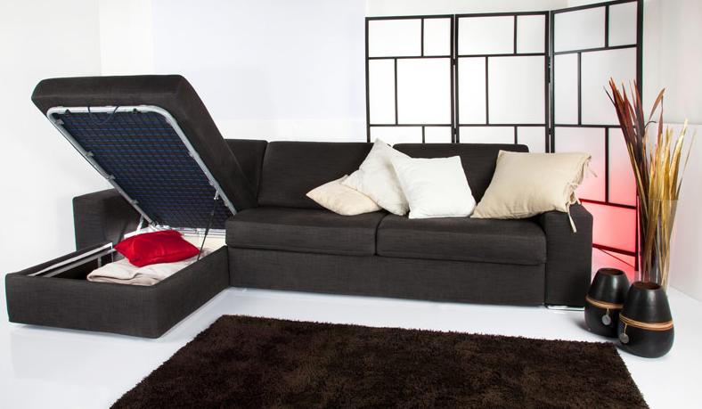 Divani letto con penisola contenitore divani e divani for Divani letto con contenitore