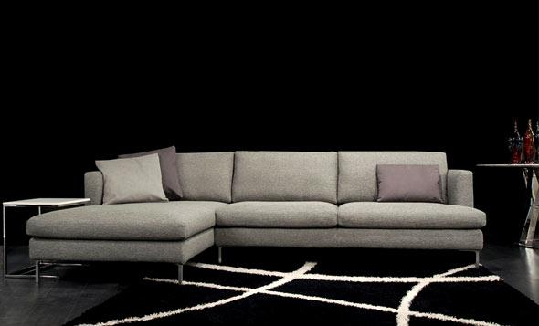Divani in tessuto divani e divani letto su misura for Divani moderni milano