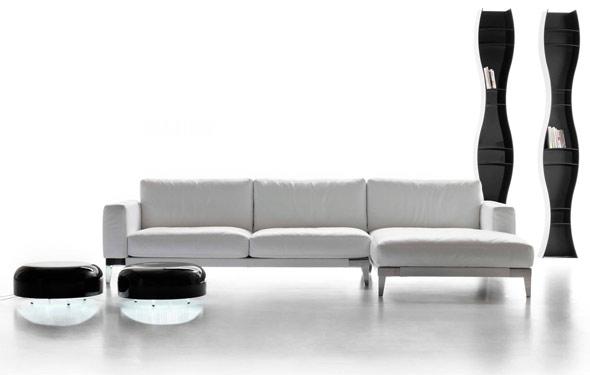 Divani in pelle divani e divani letto su misura poltrone relax tino mariani - Divani pelle design ...
